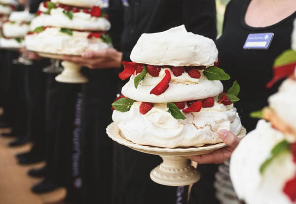 Wedding Dessert - Pavlova tower with local Kent fruit