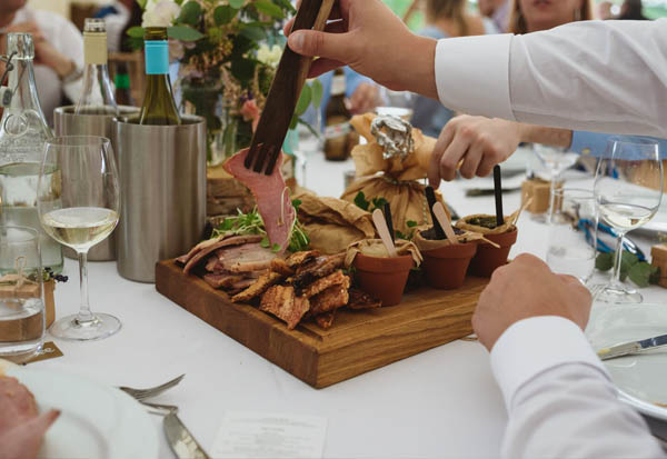 family style service - wedding food