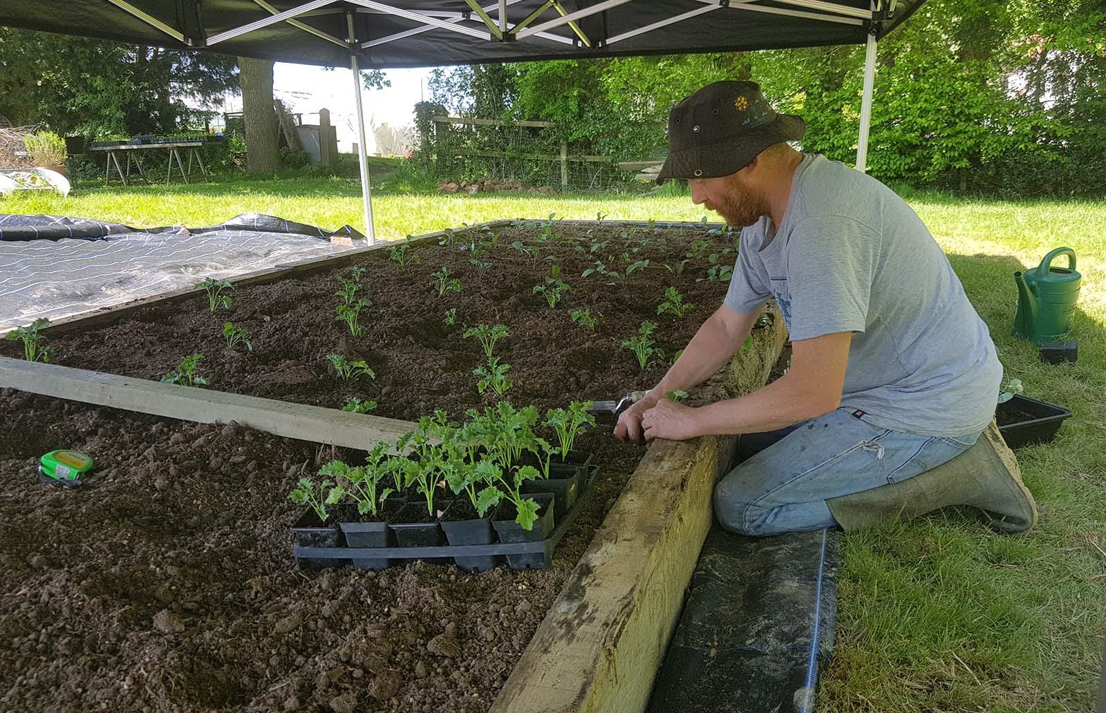 Julian Gurr planting on his Kent farm
