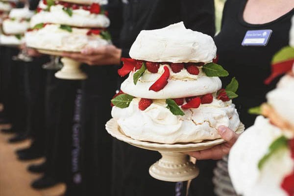 pavlova tower with Kent fruit