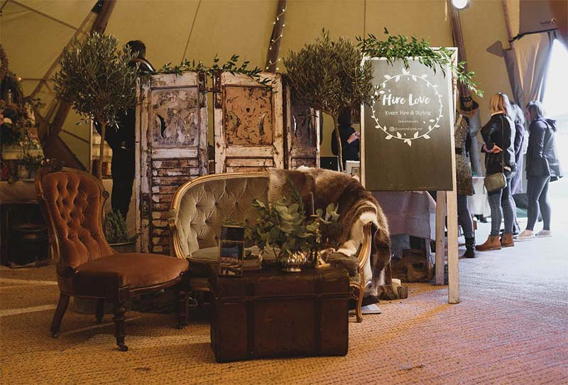 rustic furniture for a wedding