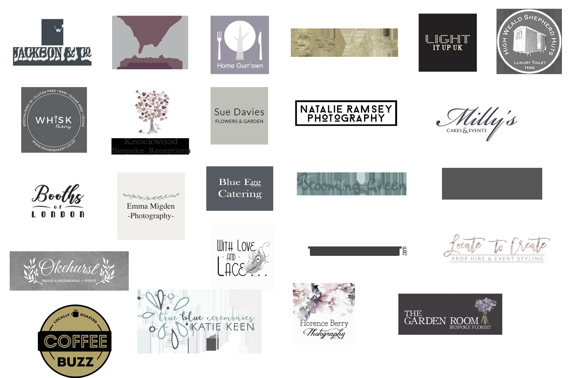 Logos, Rustic Kent Wedding vendors