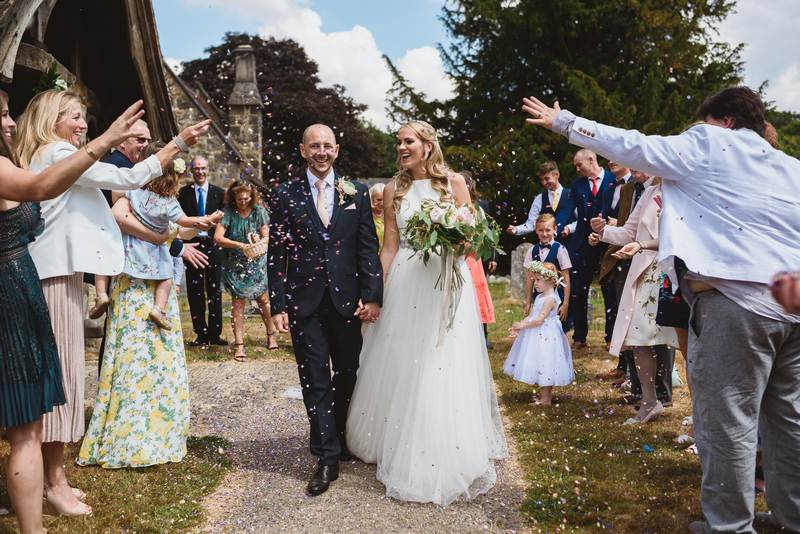 Bride and groom in Kent