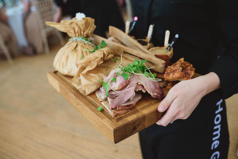 Trio of pork served at our Kent wedding