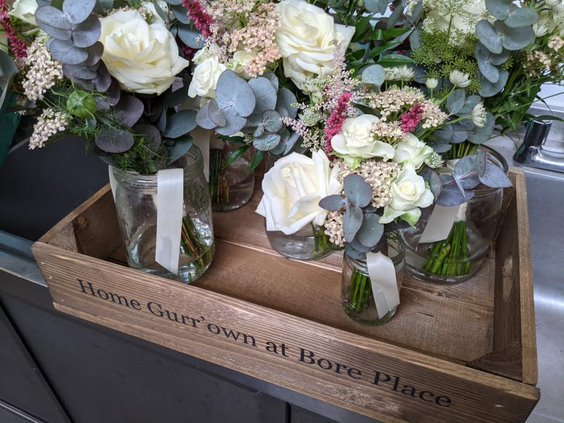 flowers at Home Gurrown Caterers in Kent
